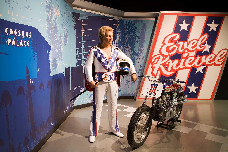 Evel Knievel, Madame Tussauds Wax Museum at the Venetian Casino, Las Vegas, Nevada, USA