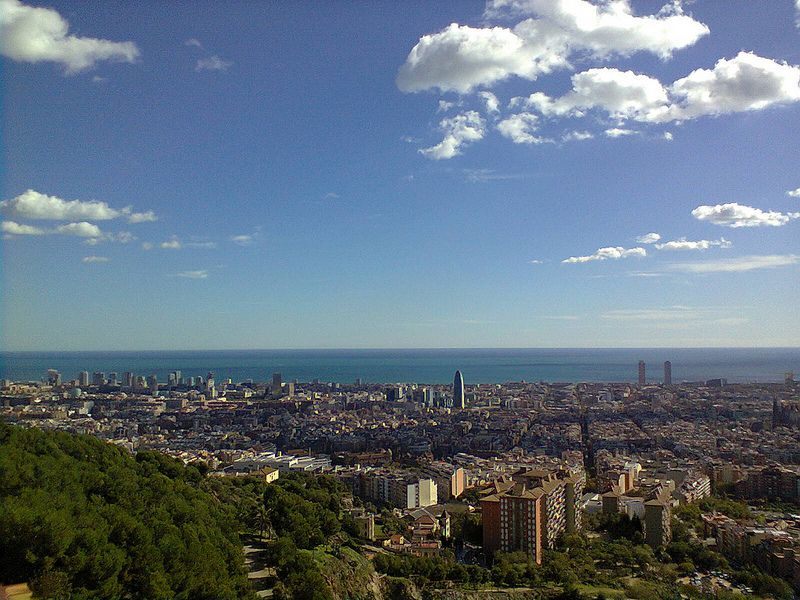 View from Parc Guell, Barcelona, in early-November