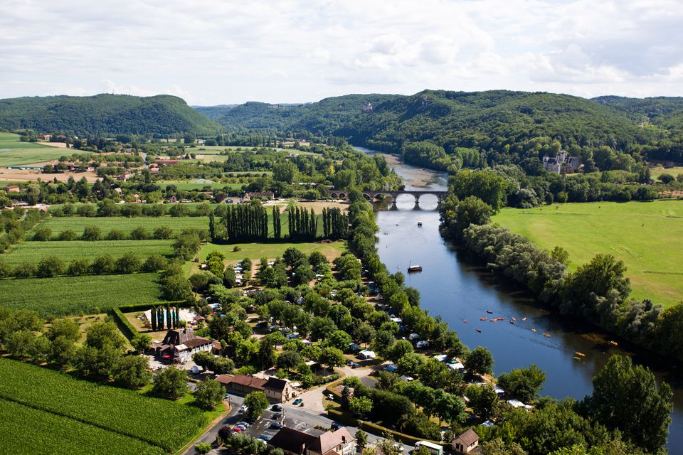 French Countryside. Landscape of Beynac, France.