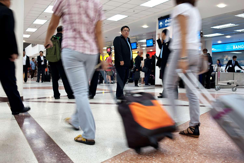 Viajeros del aeropuerto de Chiang Mai