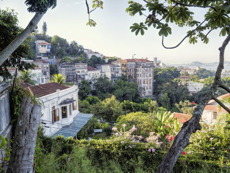 Houses on a hill side in Rio de Janeiro