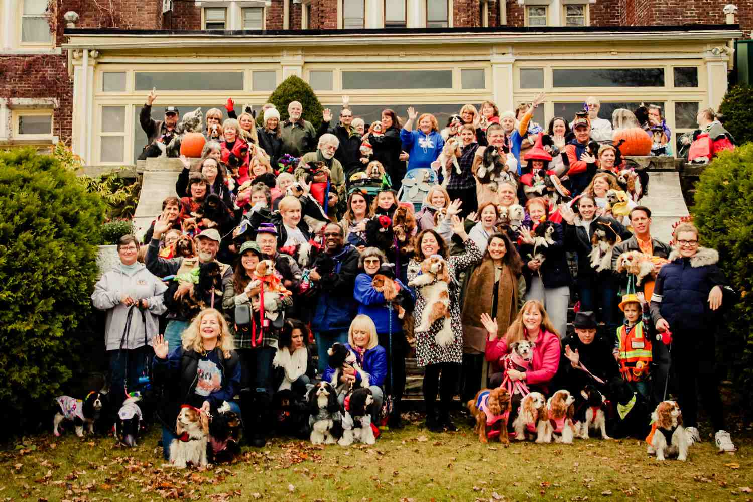 Wilburton Inn Dog Friendly Vermont - large group of people with their dogs