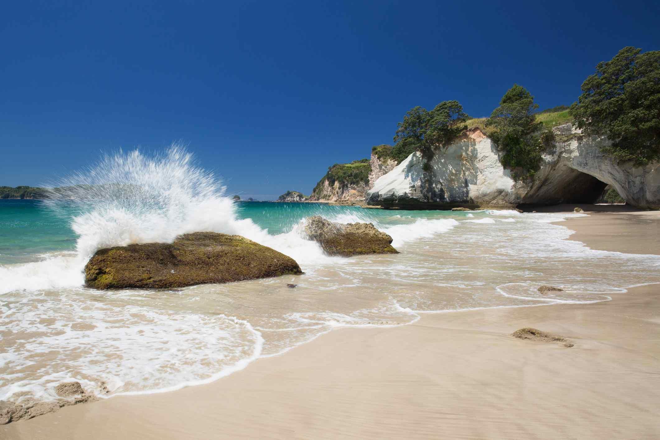 A beach in the Coromandel Peninsula, New Zealand.