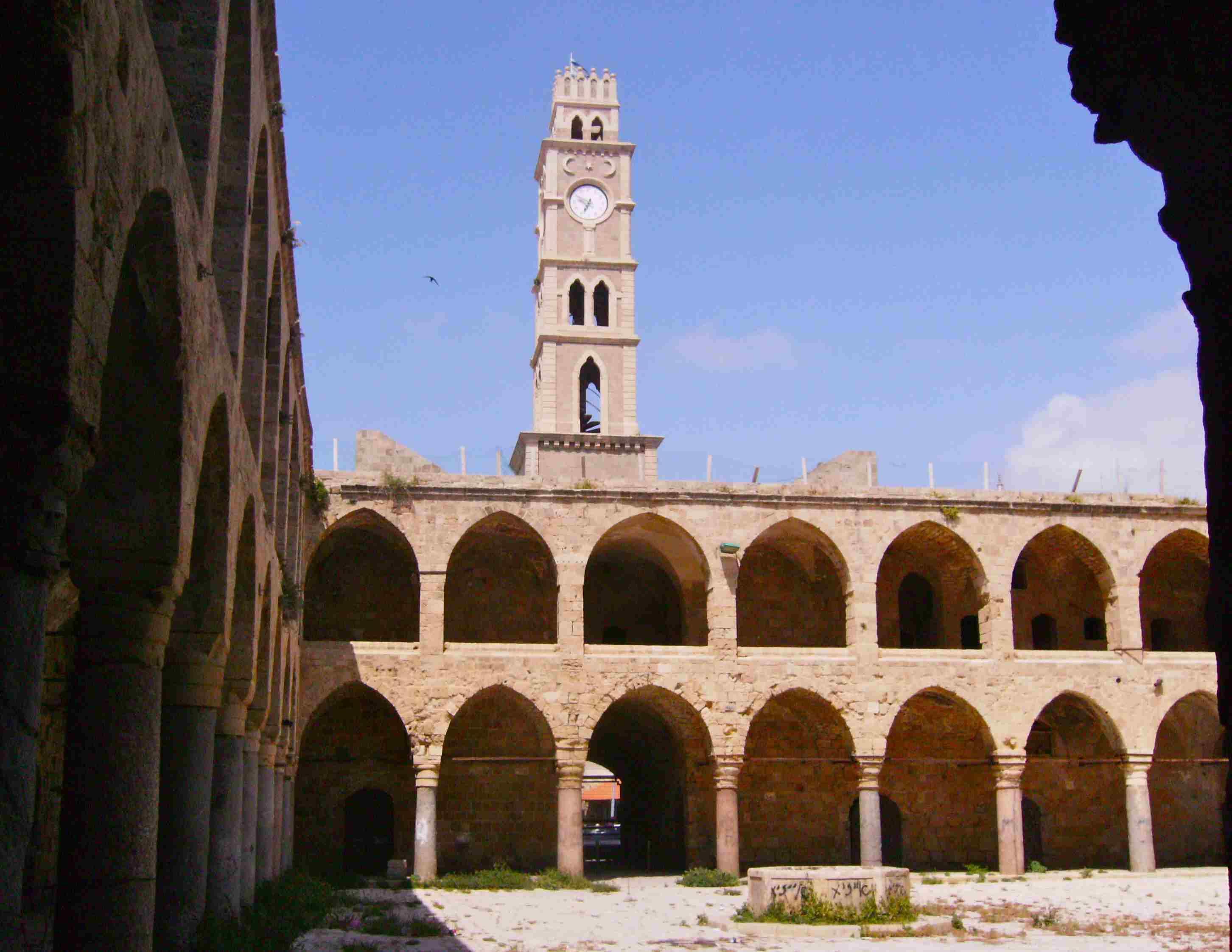 Akko's Khan al-Umdan, or Inn of the Pillars, was an early hotel for merchants who arrived by sea or by camel train.