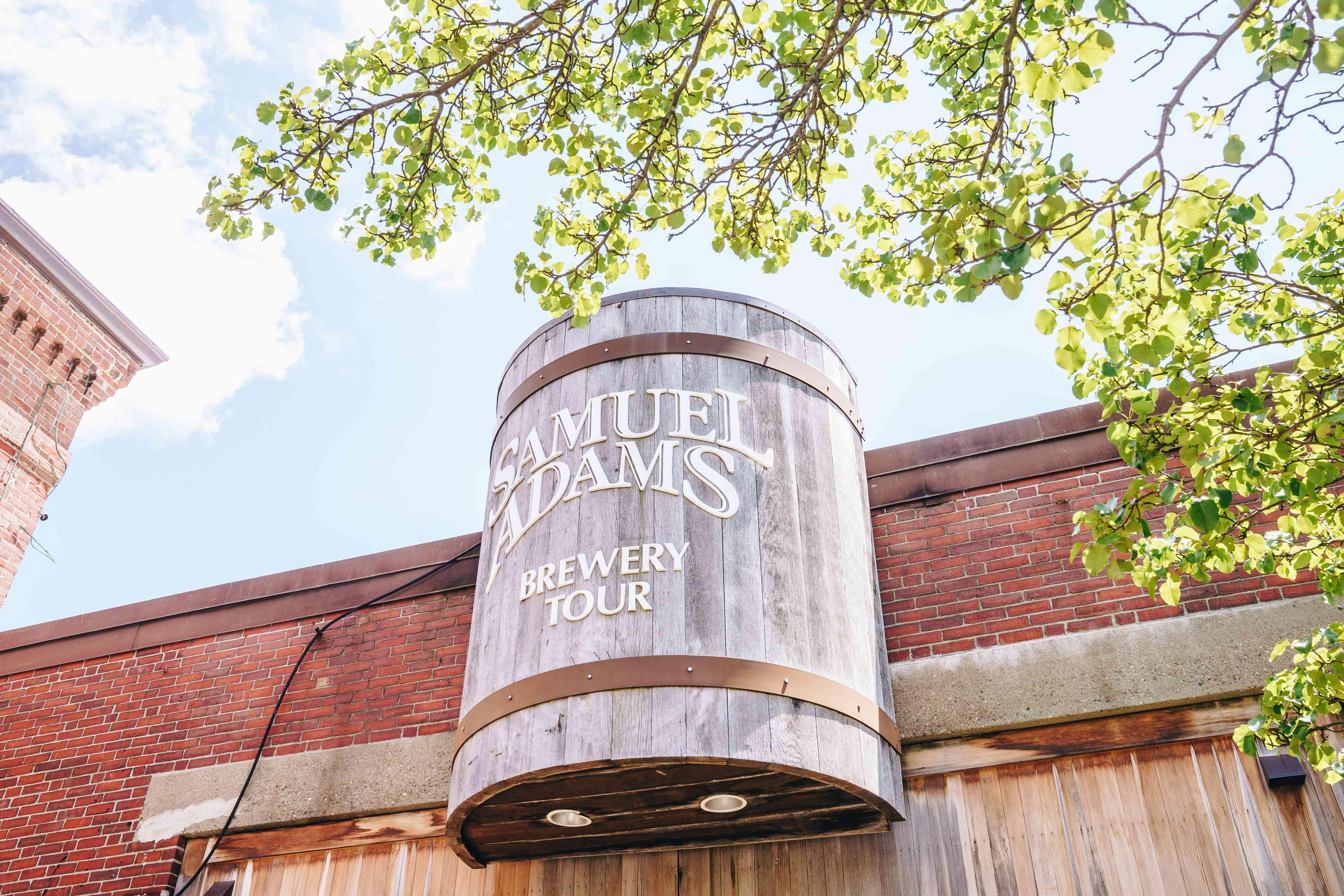 Sam Adams Brewery SIgn