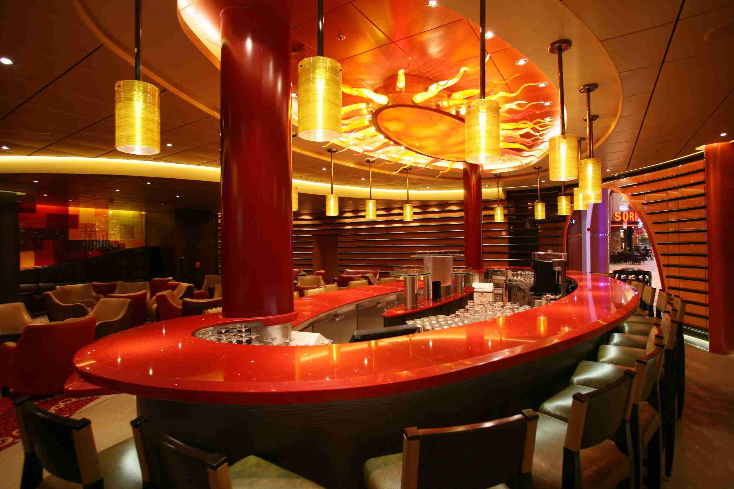 Bolero is a Latin-themed bar on the Allure of the Seas cruise ship