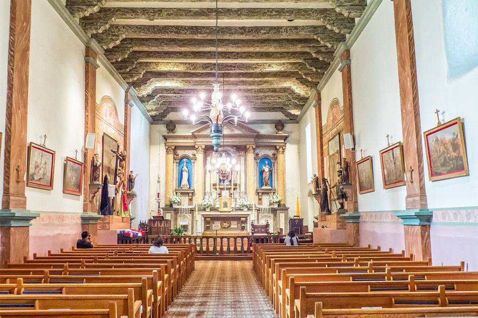 Interior of Mission San Buenaventura