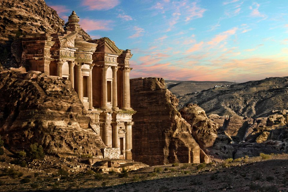 The lost valley of Petra in Jordan