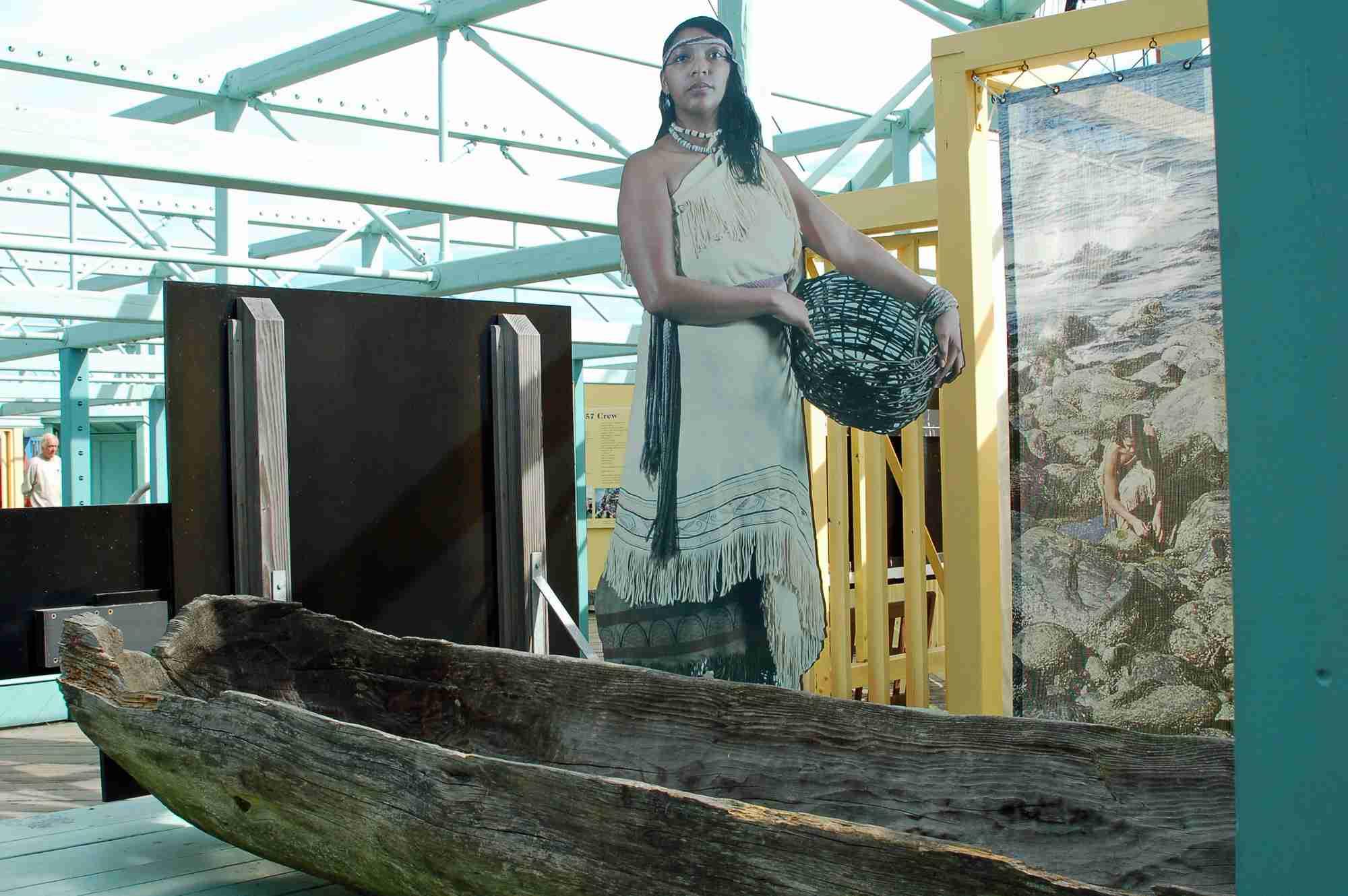 Wampanoag Mashoon Canoe at Mayflower II