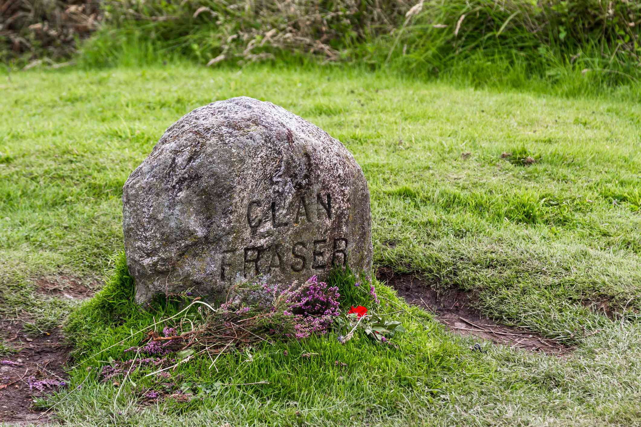 Clan Fraser gravestone at the Battle of Culloden site, Scotland