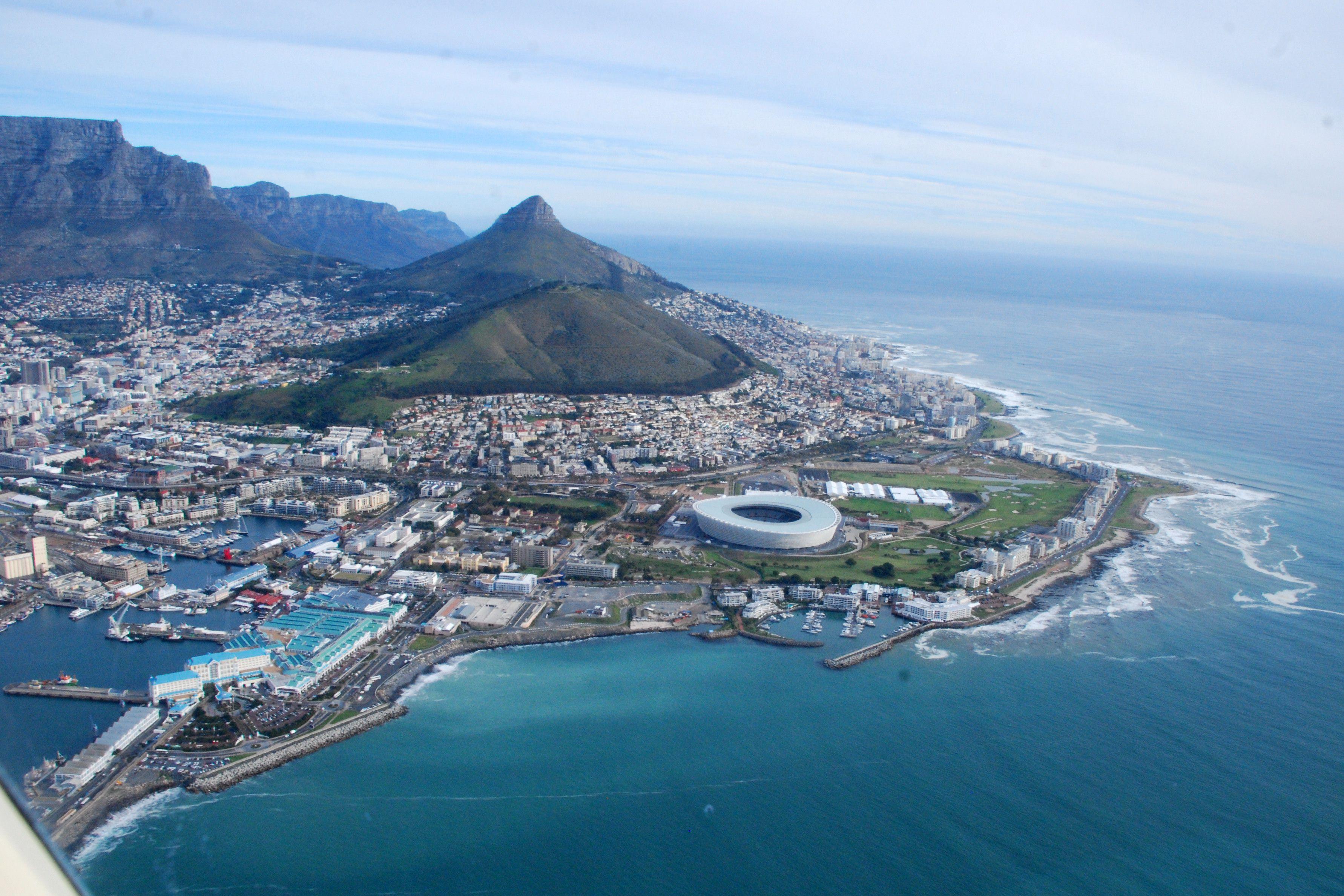 Cape Town aerial shot