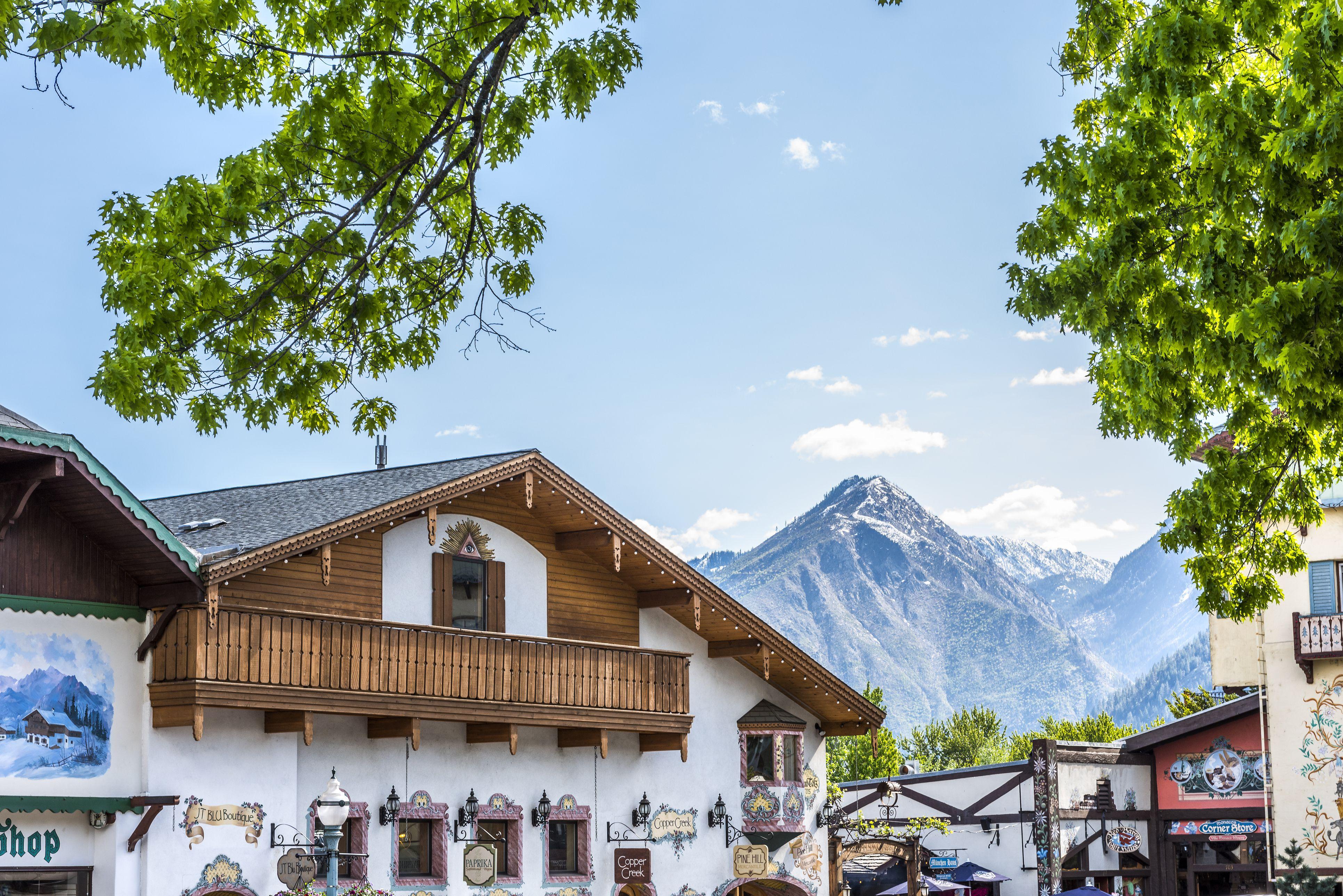 Rooftops of Bavarian Village in Washington