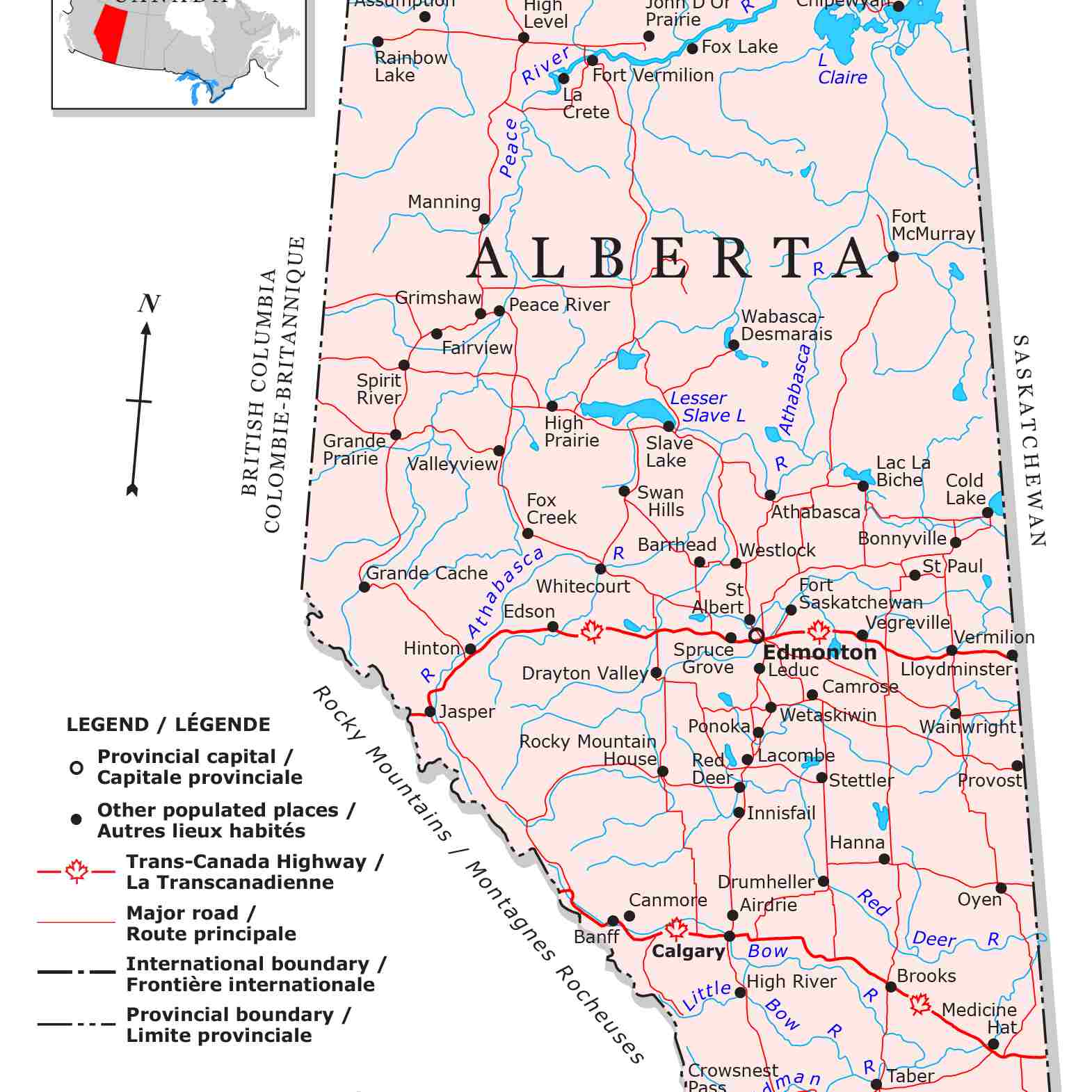 Map Of Alberta Canada With Cities And Towns Guide to Canadian Provinces and Territories