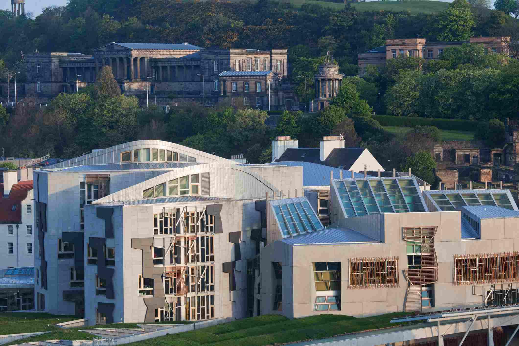 Scottish Parliament in Edinburgh.