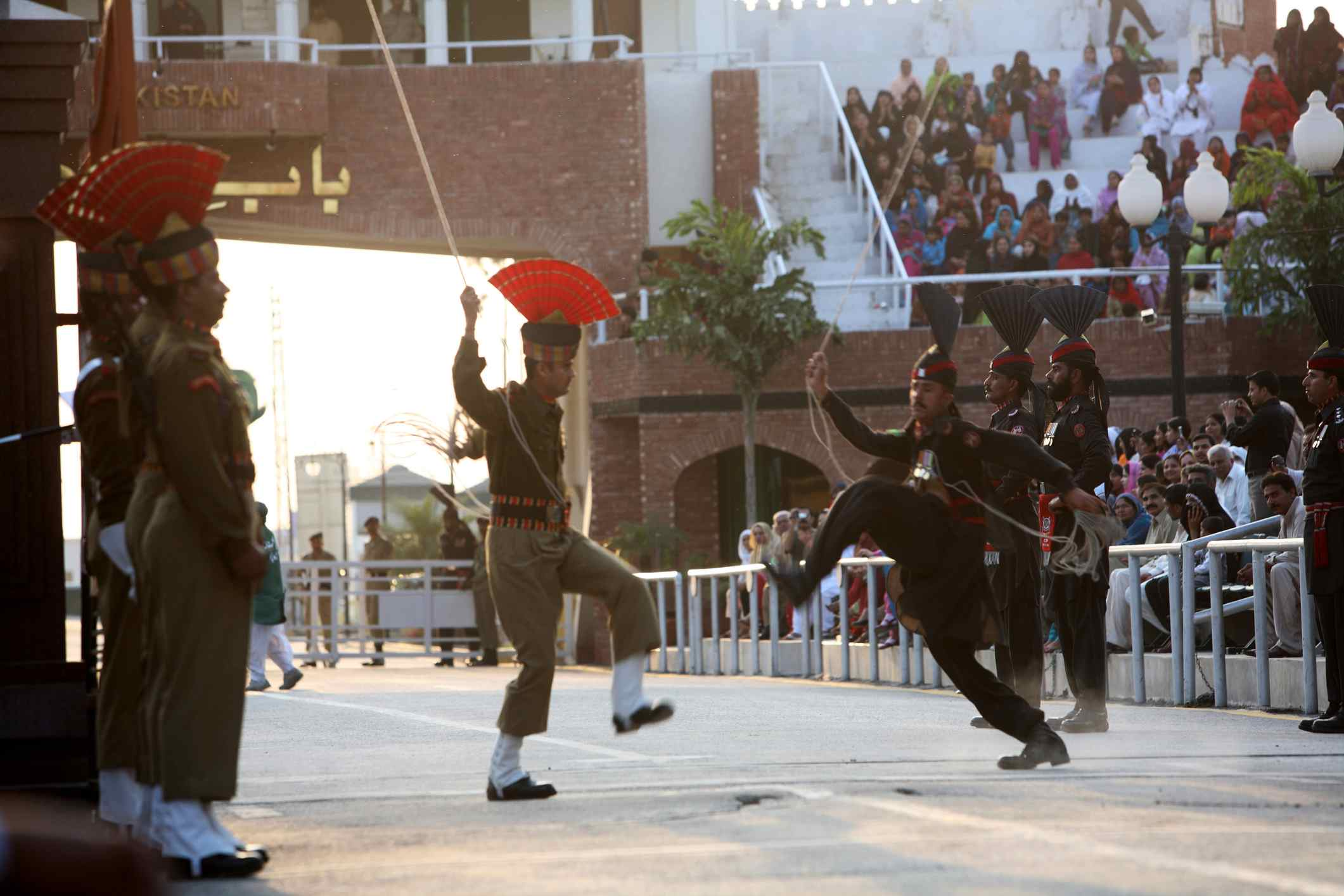 13 Photos of the Dramatic Wagah Border Flag Ceremony