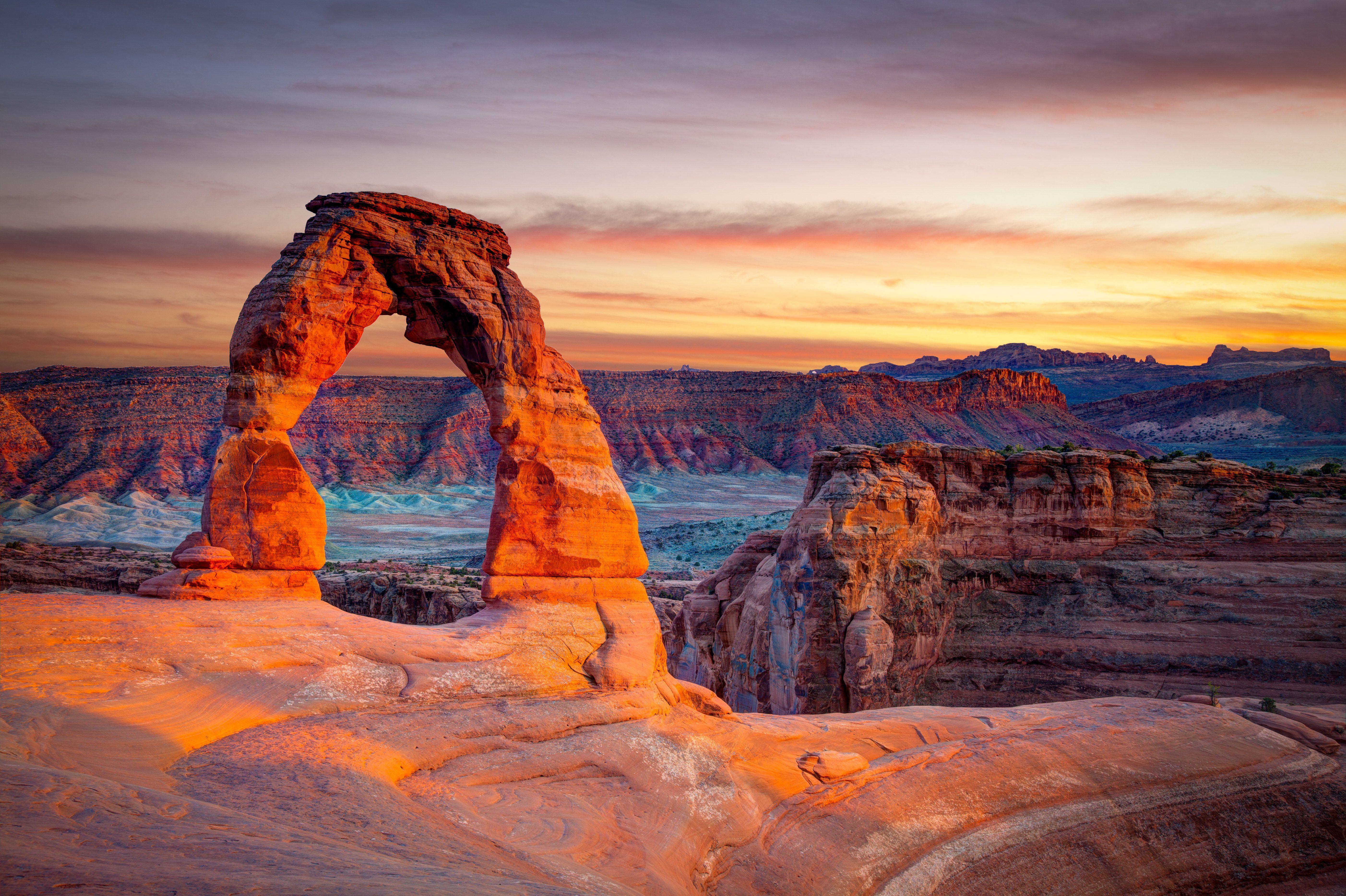 glühende Arch