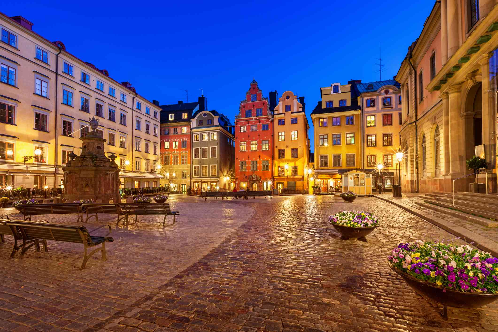 Stortorget town square in old town Stockholm