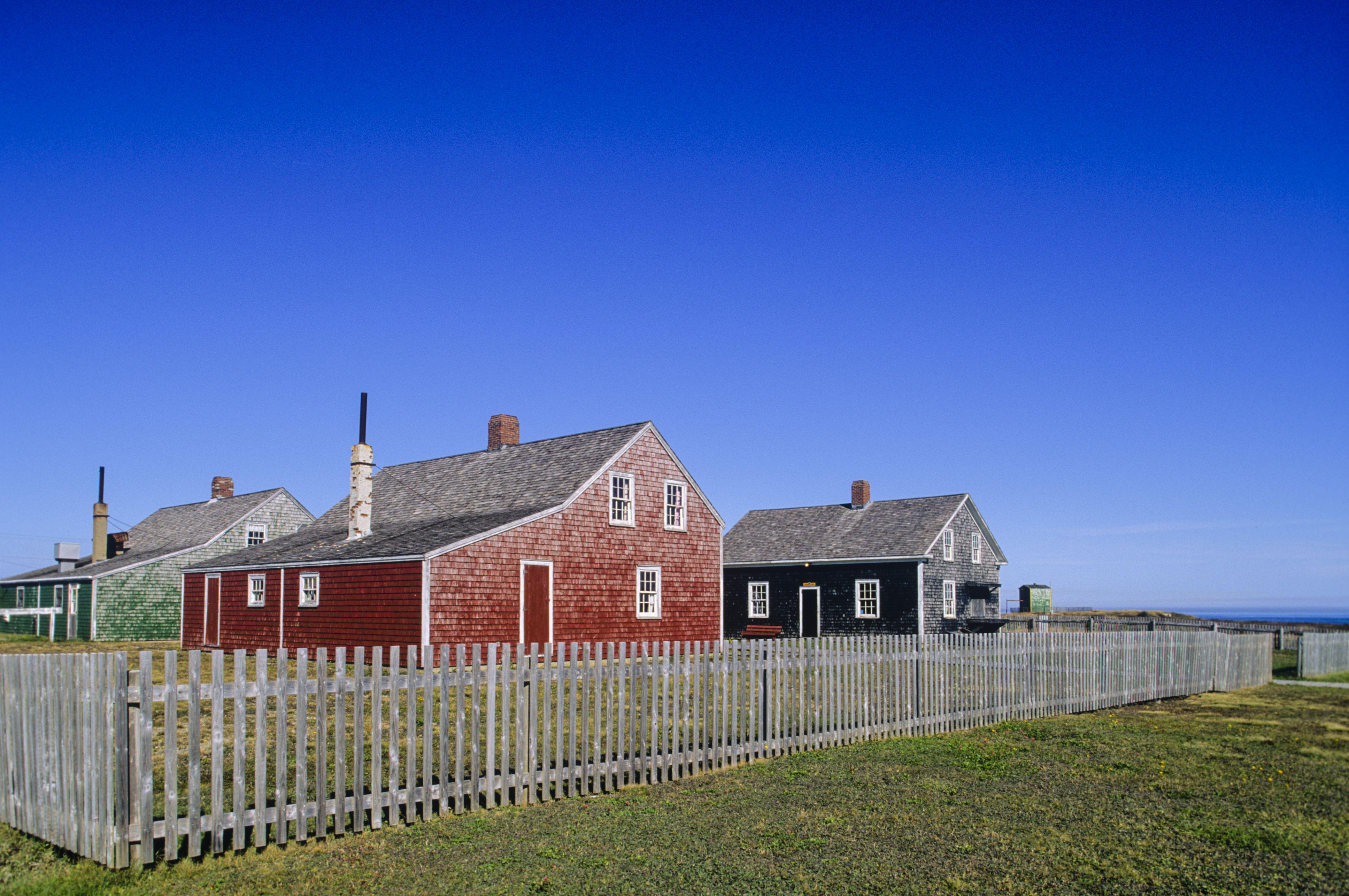 Company houses, Miner's Museum, Glace Bay, Cape Breton, Nova Scotia, Canada