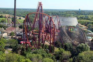 Six Flags Great America's coaster skyline