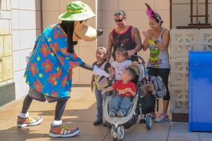 Goofy Gets Dressed Up for Summer Guests