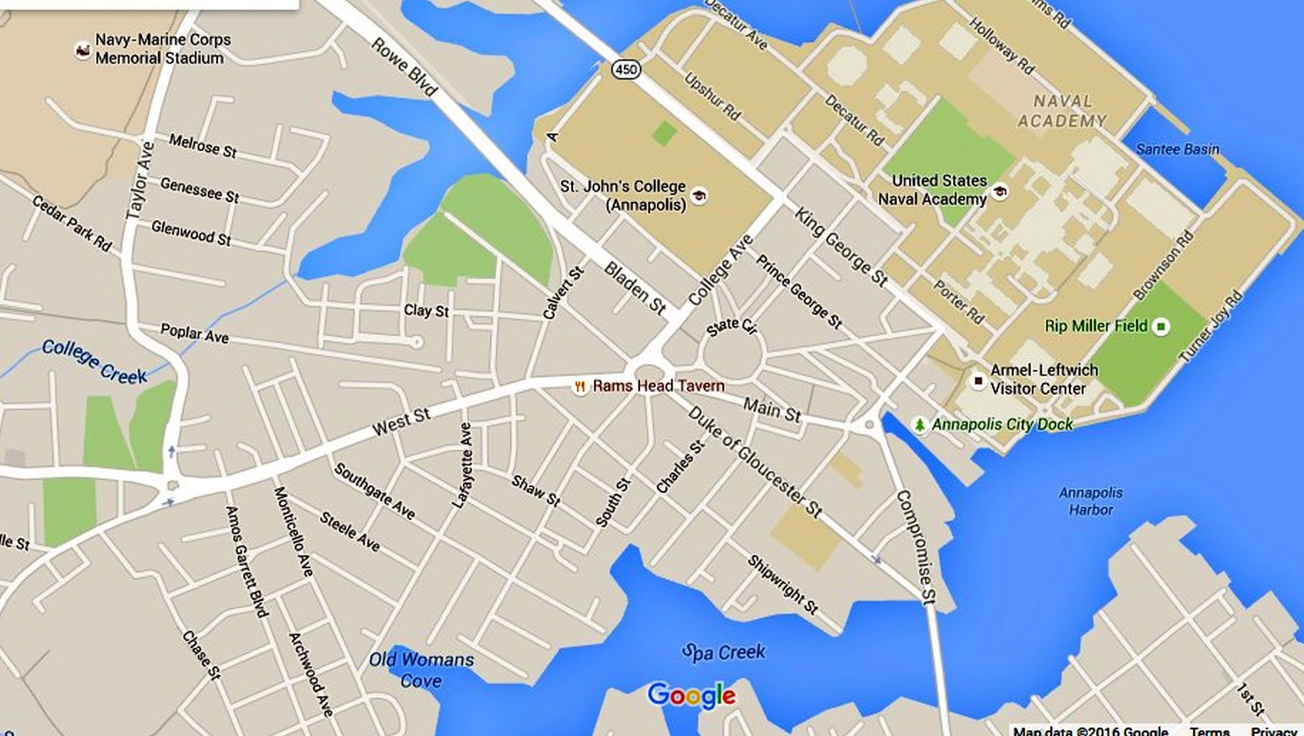 Map Of Annapolis Annapolis Maps: Downtown and the Surrounding Area Map Of Annapolis