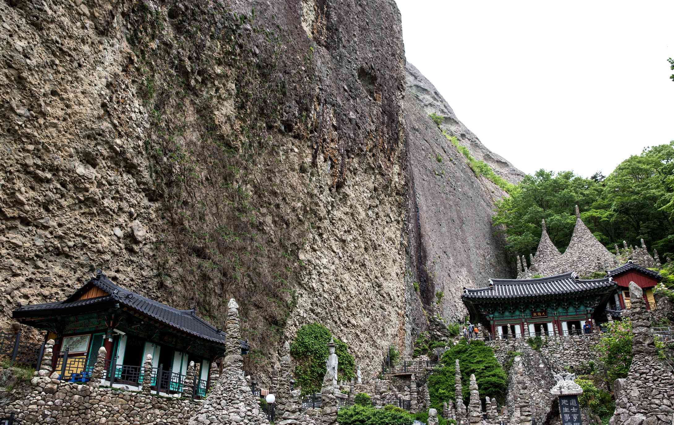 Mysterious rock formations at Tapsa Temple in South Korea