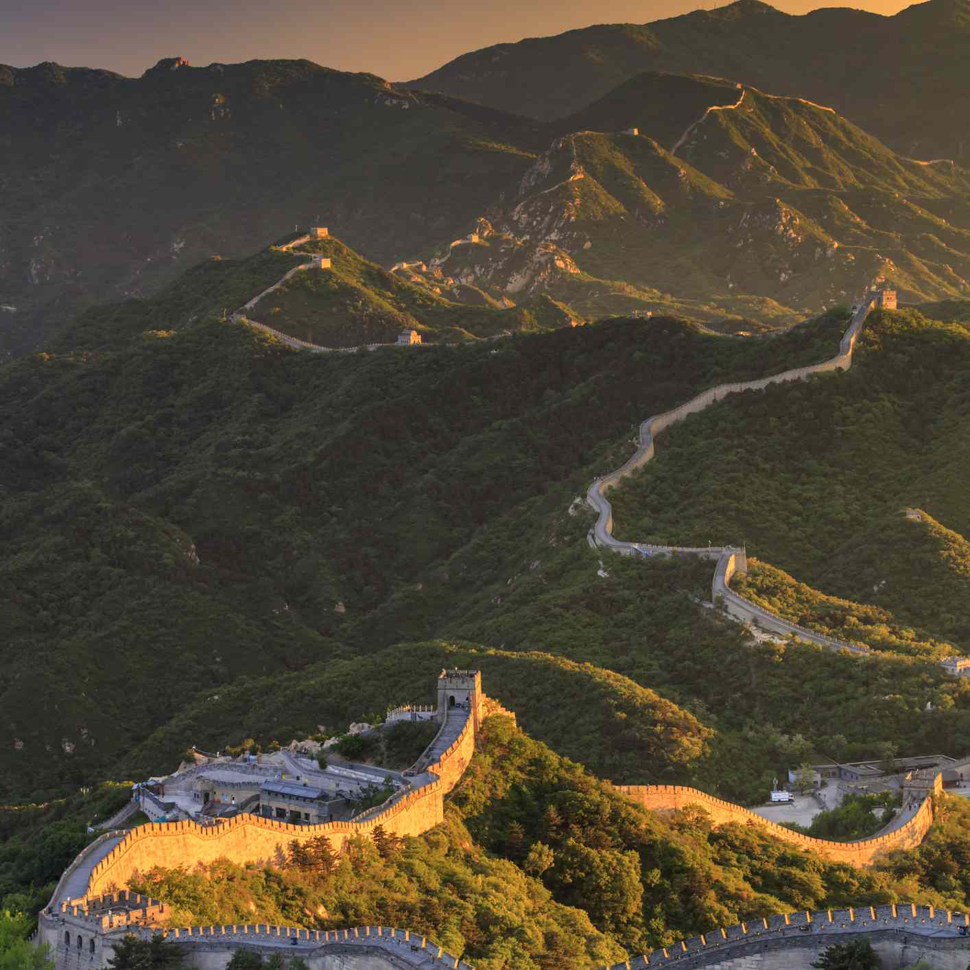 Sunset at the Badaling Section of the Great Wall