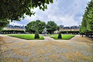 Place Des Vosges Against Cloudy Sky