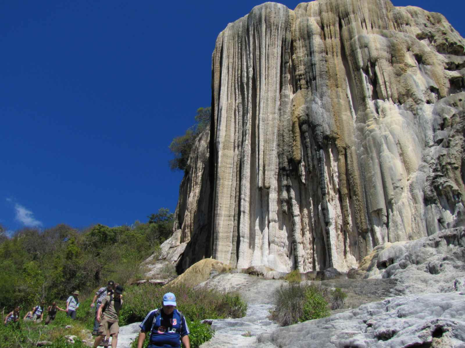 Hike around a petrified waterfall in Oaxaca, Mexico