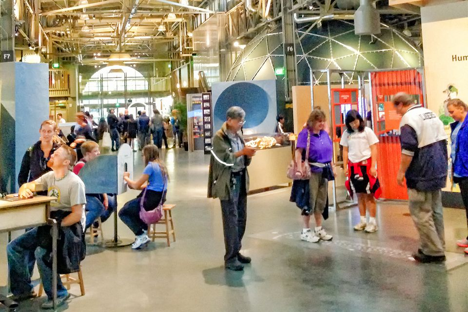 Visitors at the Exploratorium