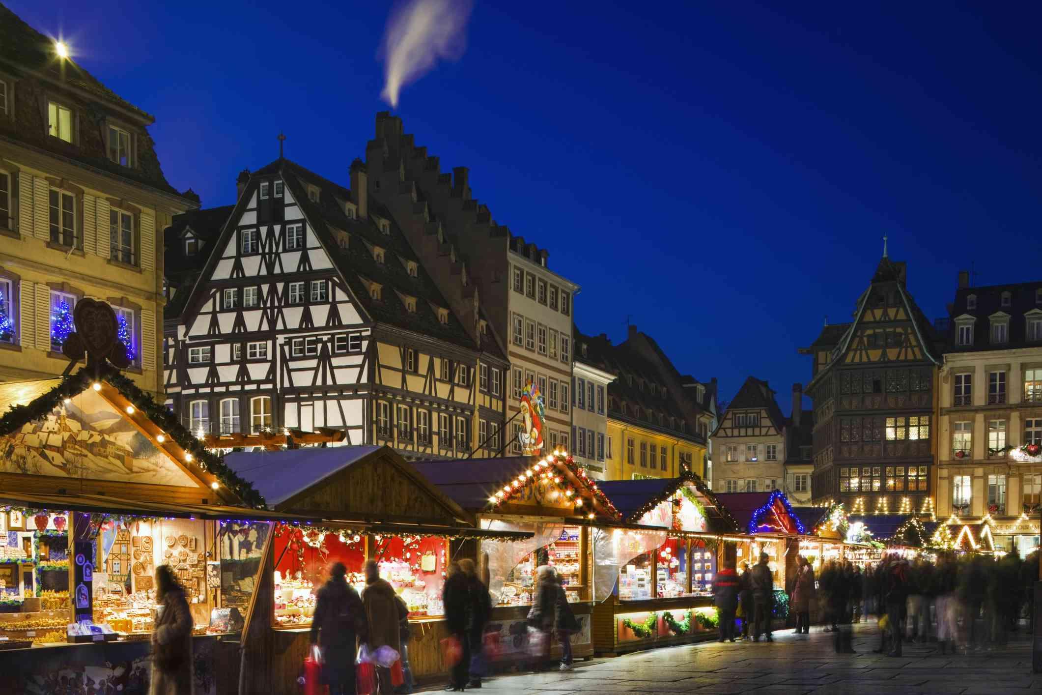 Christmas market in Strasbourg, France