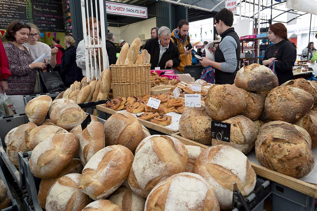 bread stands at the milk market in Limerick