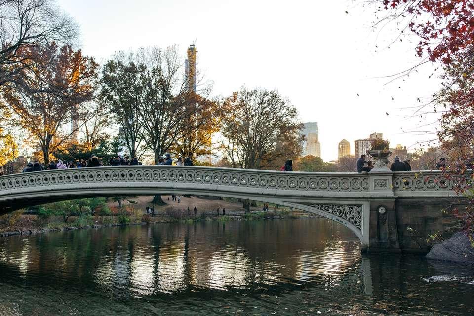 Bow Bridge in Central Park, NYC, NY