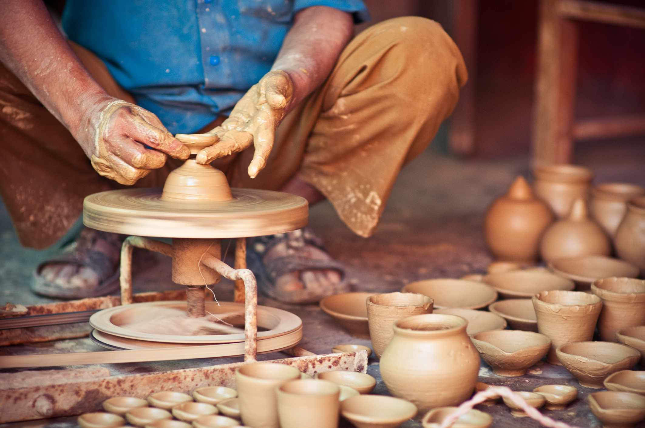 Pottery in India.