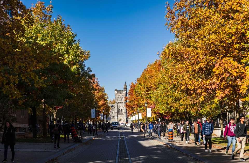 Follaje de otoño en la Universidad de Toronto