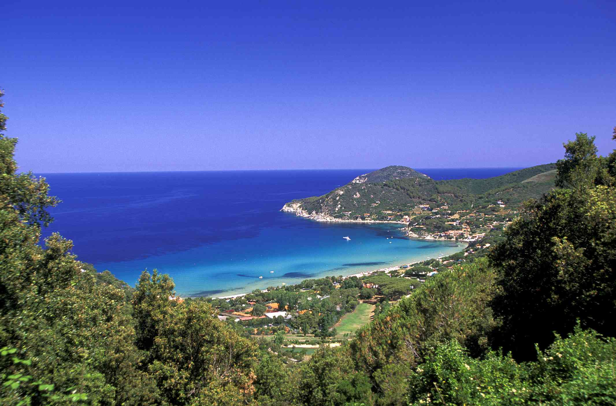 Long view of Biodola Bay and Beach, Elba