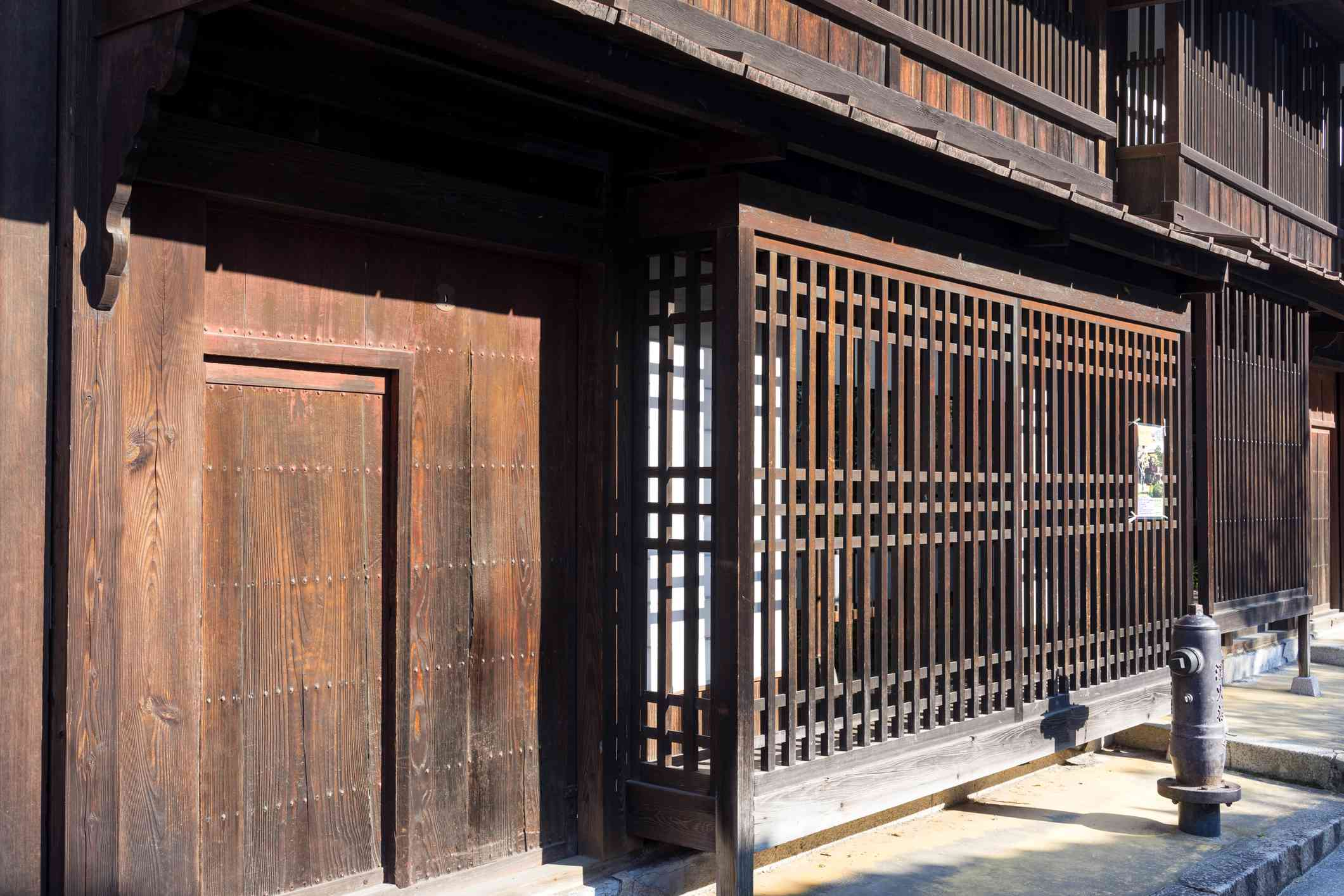 Exterior of the History and Folk Museum on Miyajima island, Japan.