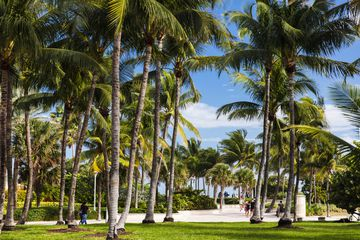 South beach walk way in Miami