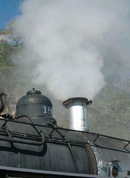 V&T steam locomotive in Virginia City, Nevada, NV