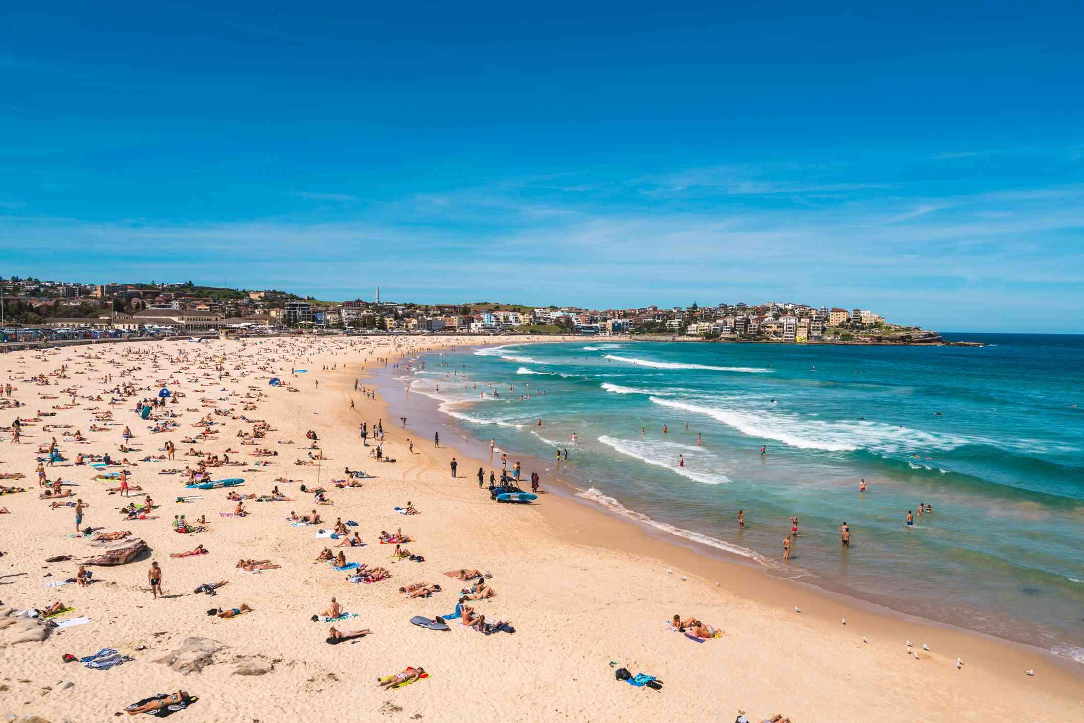 Playa Bondi en un día soleado
