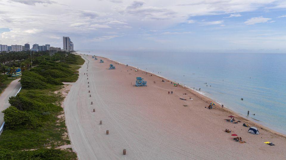 Aerial View Haulover Beach Park