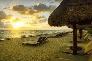 Cancun Beach in the fall