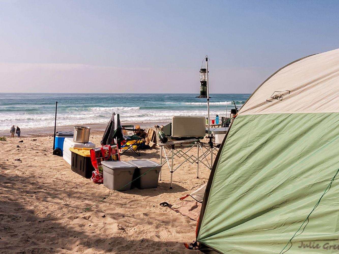 Full hookup camping california coast