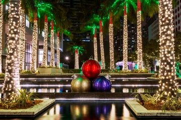 Christmas Decorations, Miami, Florida, America