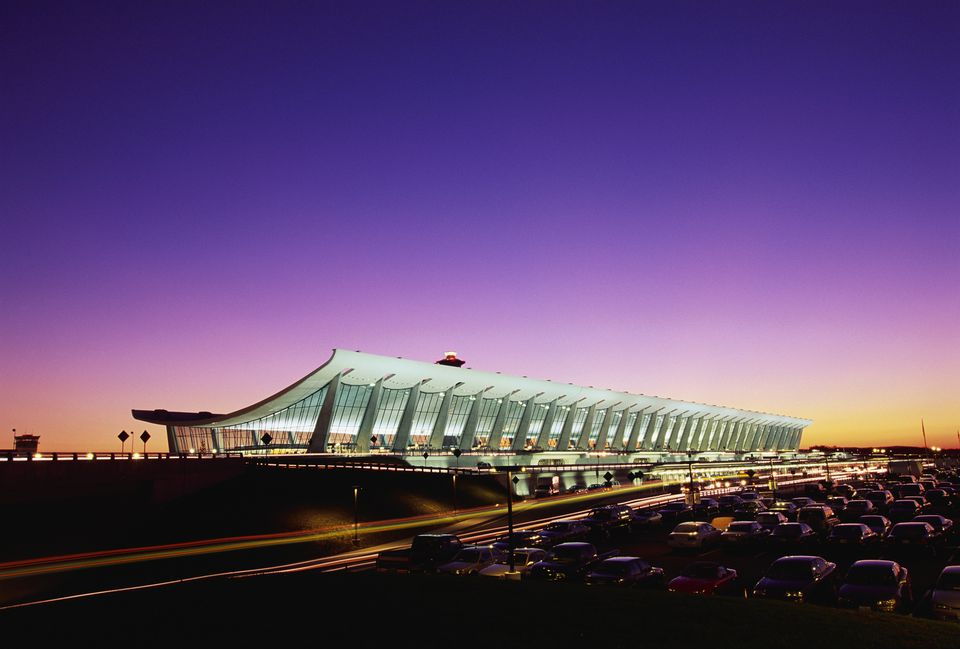 Washington Dulles International Airport at sunset