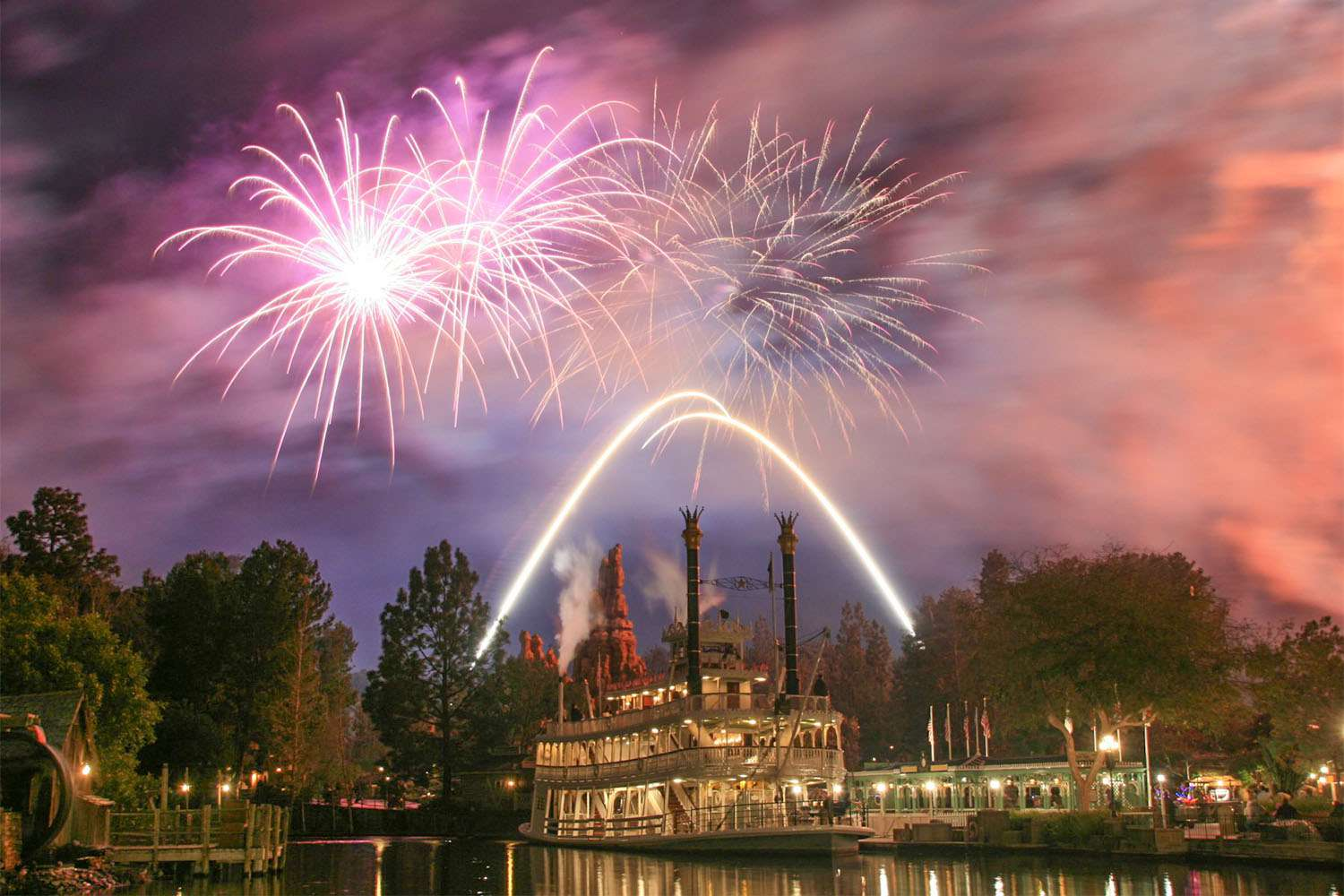 Disneyland Fireworks from Rivers of America