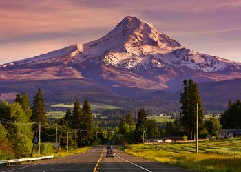 Mount Hood & Route 35 at sunset, Oregon