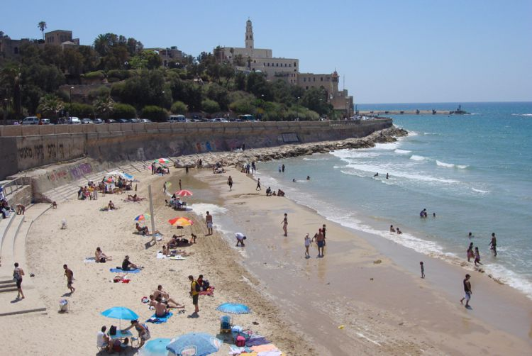 Beach at Jaffa in Te Aviv