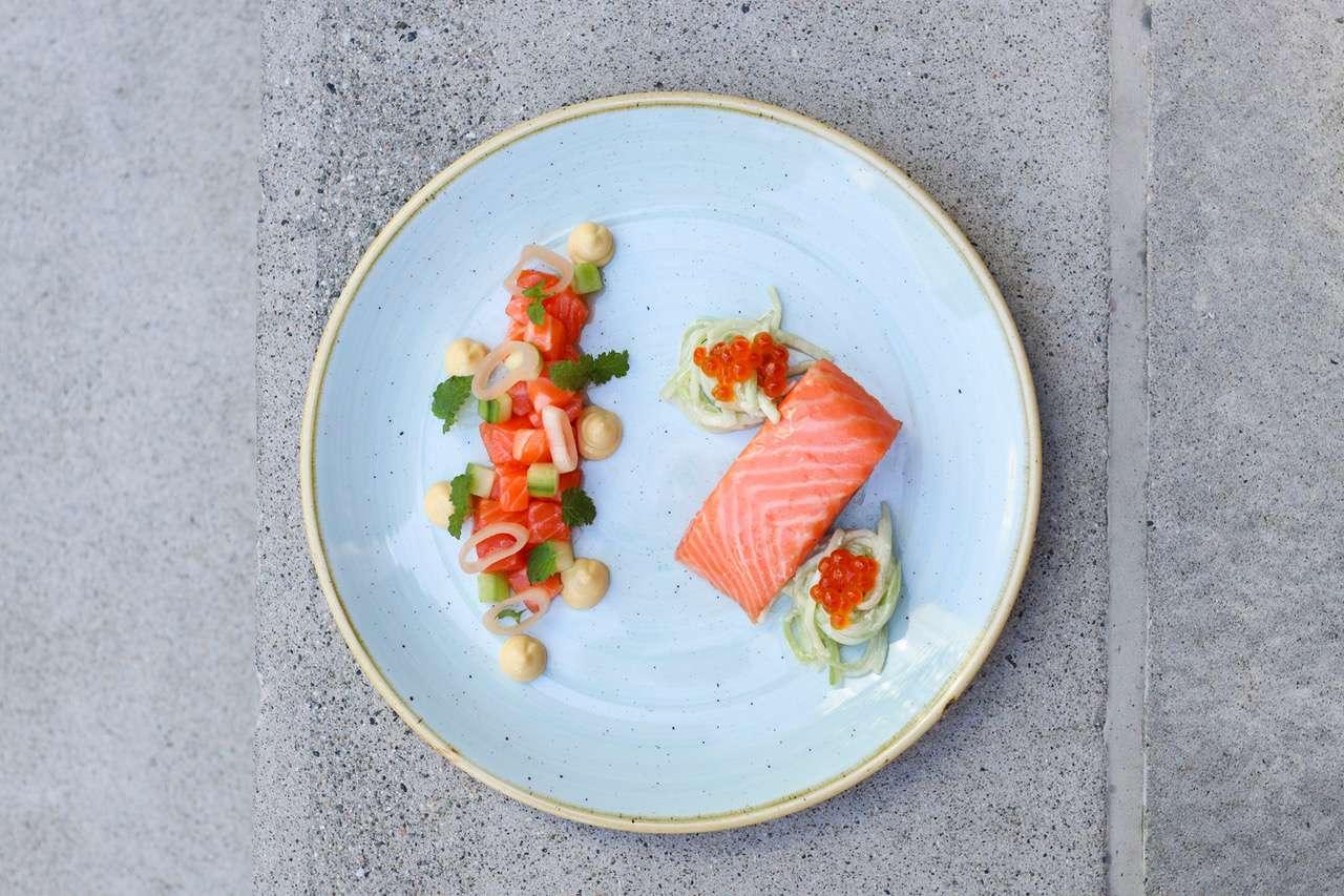 Heritage Asian Eatery salmon dish