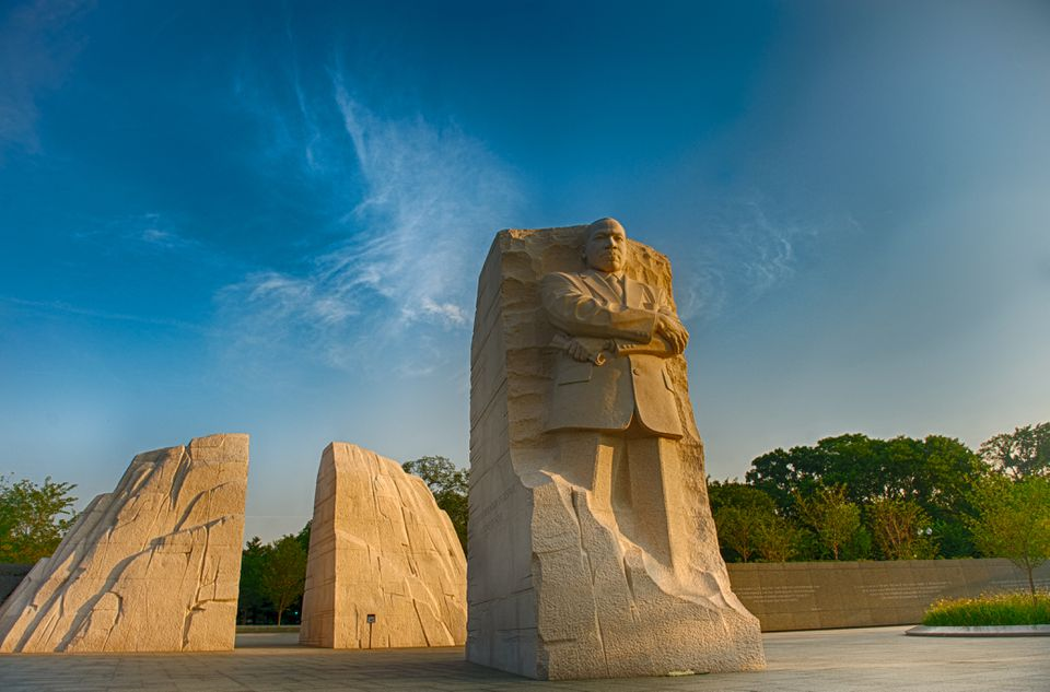 The MLK memorial in Washington D.C.